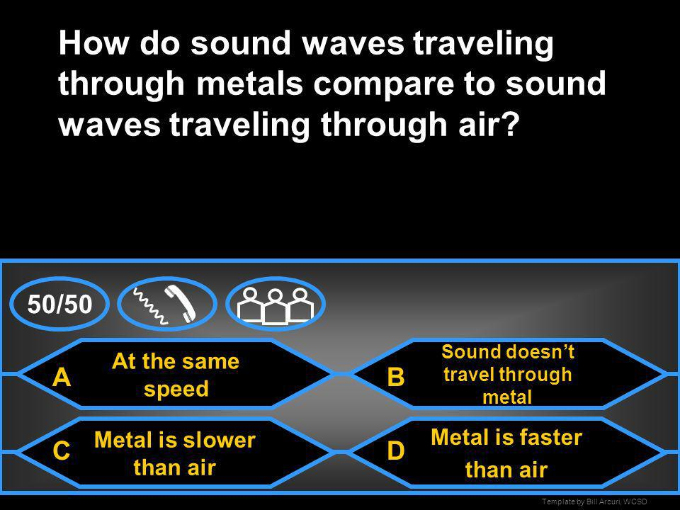 Sound doesn't travel through metal Metal is slower than air