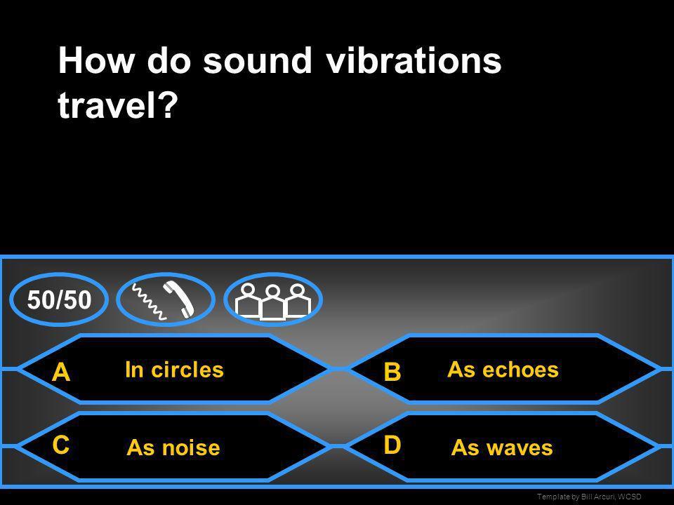 How do sound vibrations travel