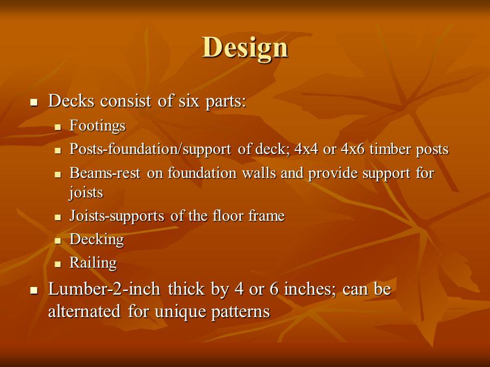 Design Decks consist of six parts: