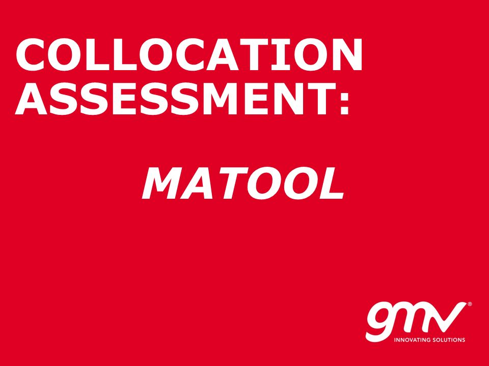 COLLOCATION ASSESSMENT: