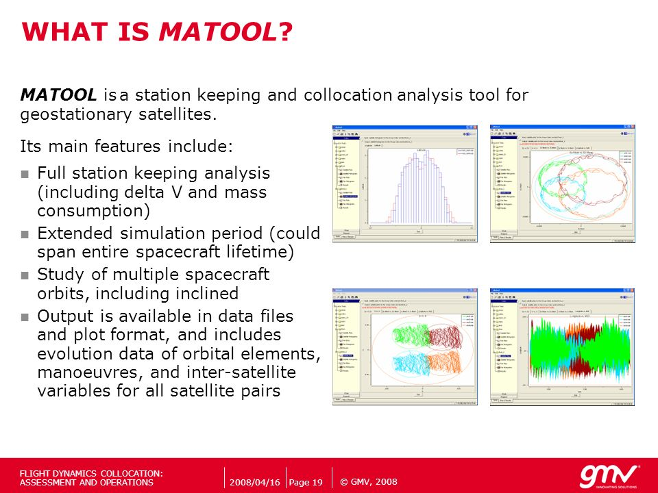 a station keeping and collocation analysis tool for