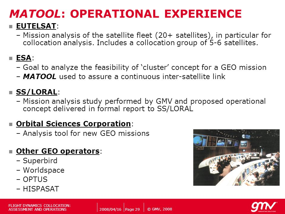 MATOOL: OPERATIONAL EXPERIENCE