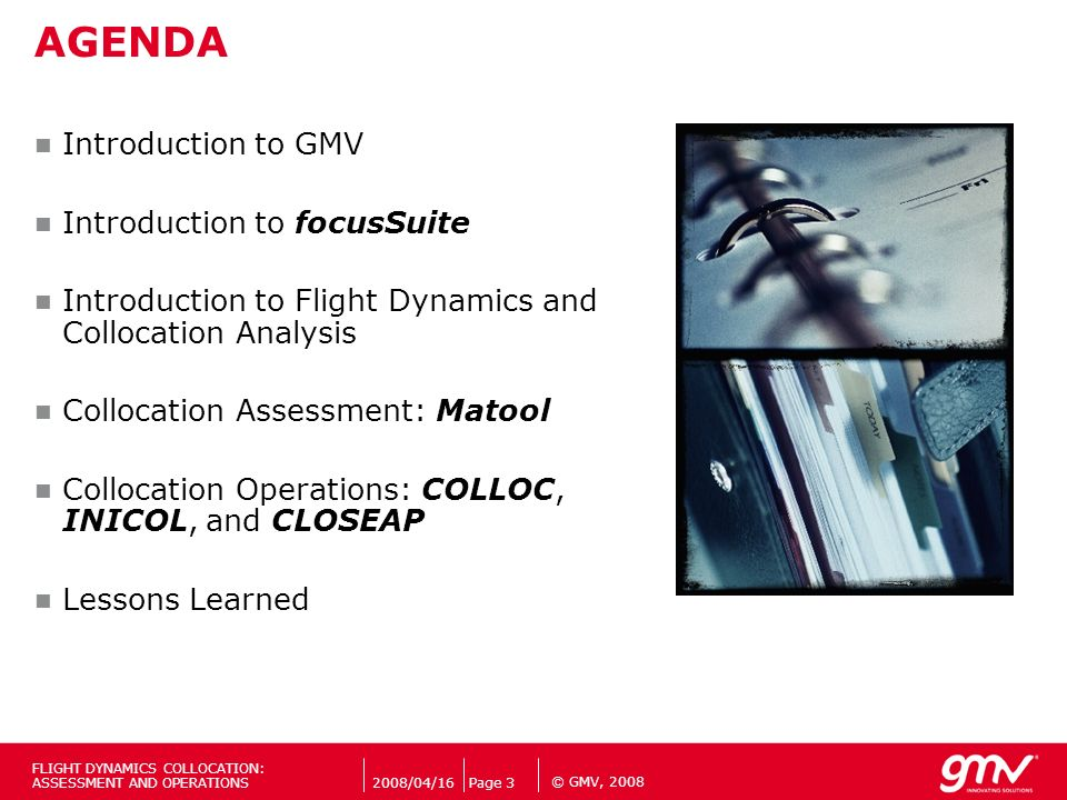 AGENDA Introduction to GMV Introduction to focusSuite
