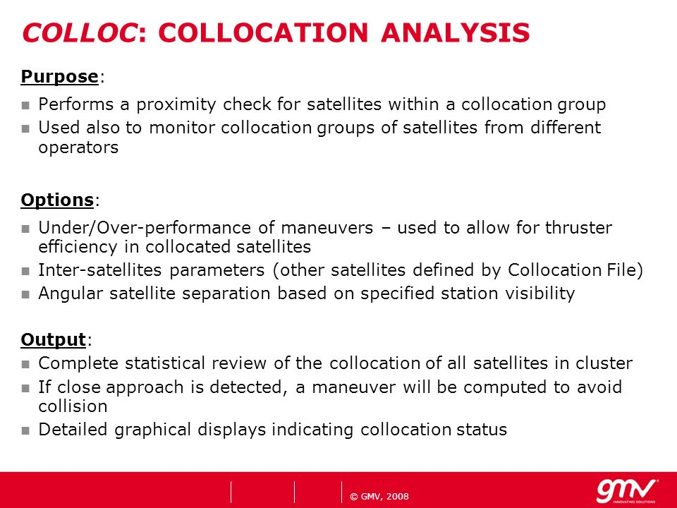 COLLOC: COLLOCATION ANALYSIS