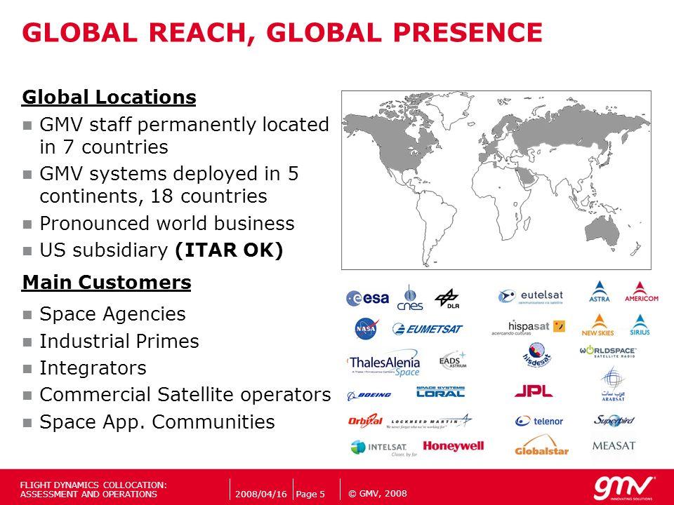 GLOBAL REACH, GLOBAL PRESENCE