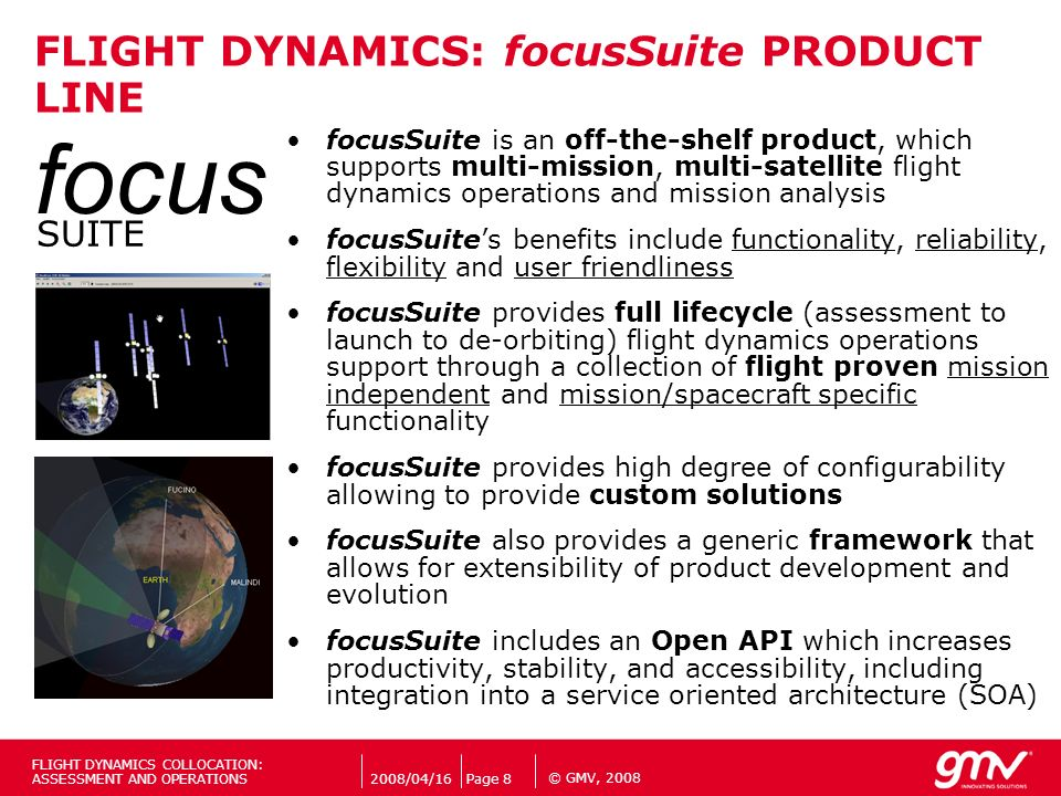FLIGHT DYNAMICS: focusSuite PRODUCT LINE