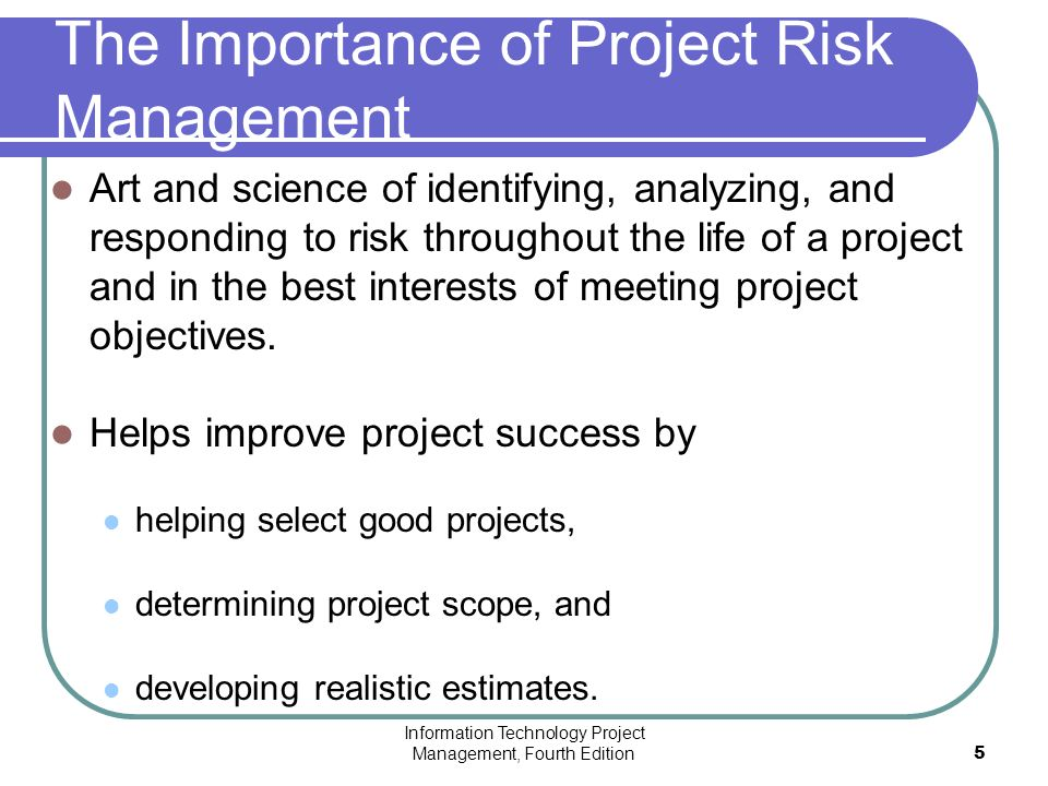 importance of project management When you start your project you need to consider what resources are required to get it done it's always.