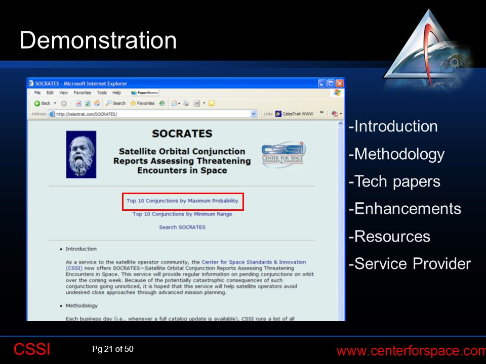 Demonstration -Introduction -Methodology -Tech papers -Enhancements