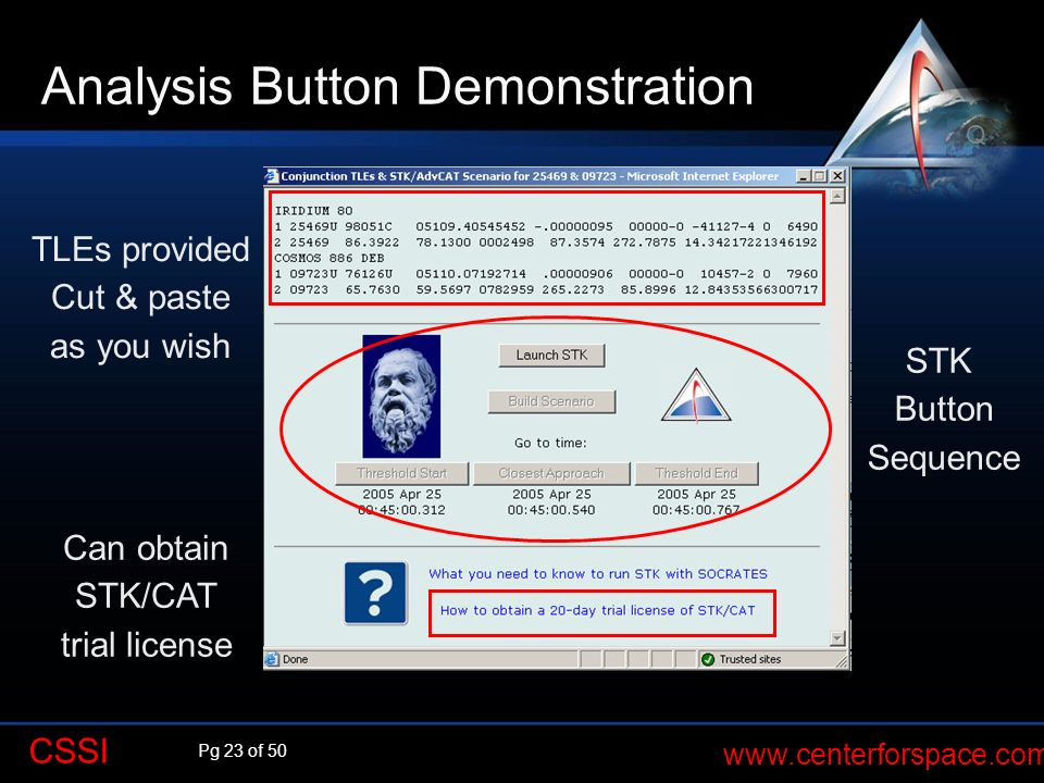 Analysis Button Demonstration