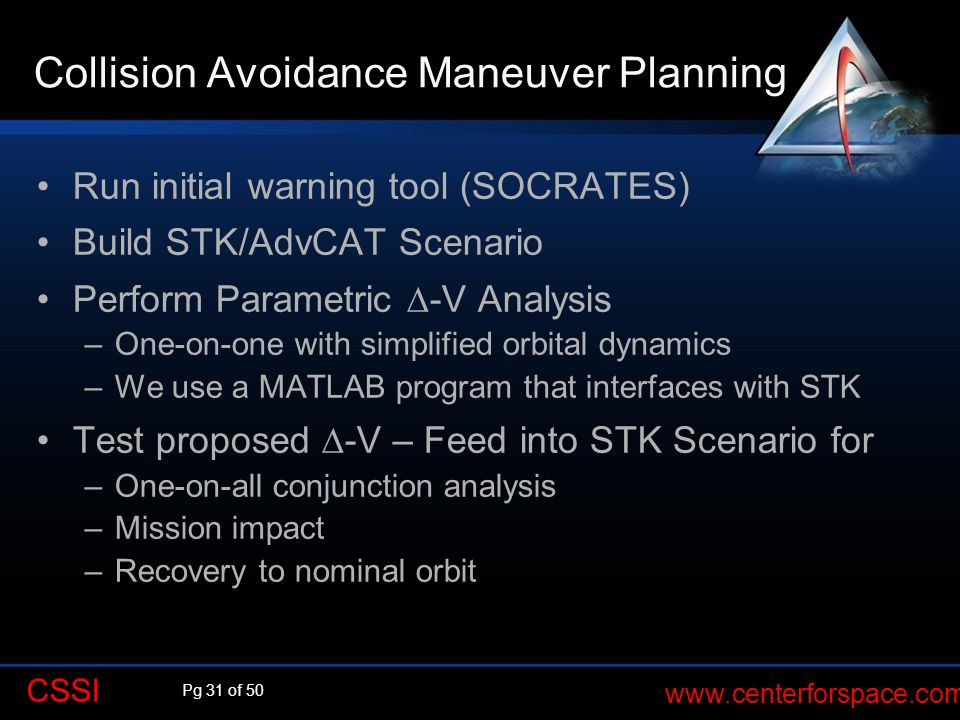 Collision Avoidance Maneuver Planning