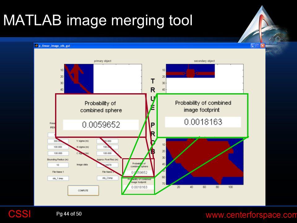 MATLAB image merging tool