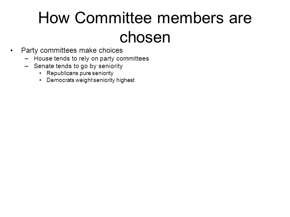 How Committee members are chosen