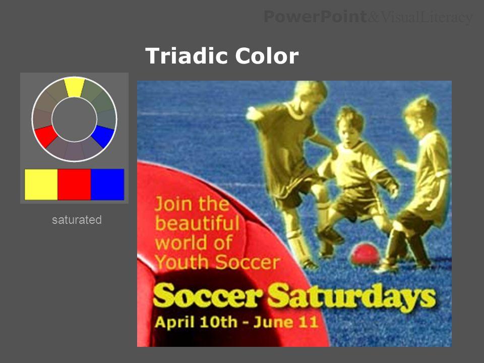 Triadic Color saturated