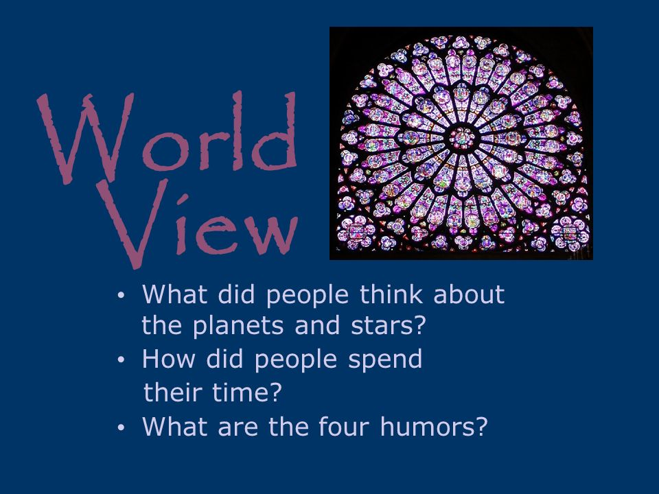 World View What did people think about the planets and stars
