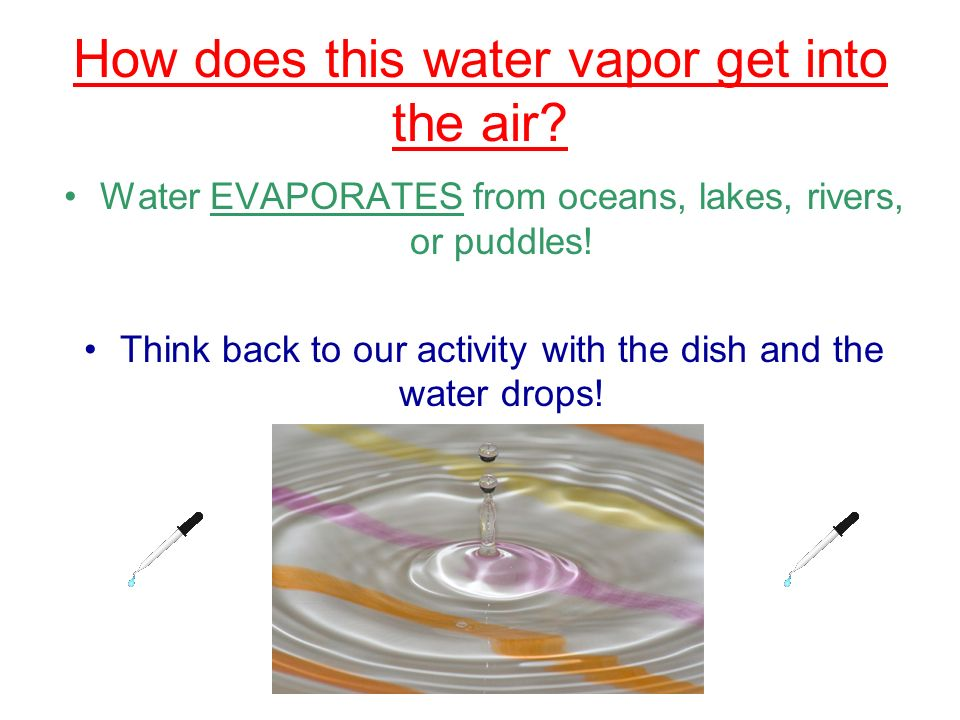 How does this water vapor get into the air