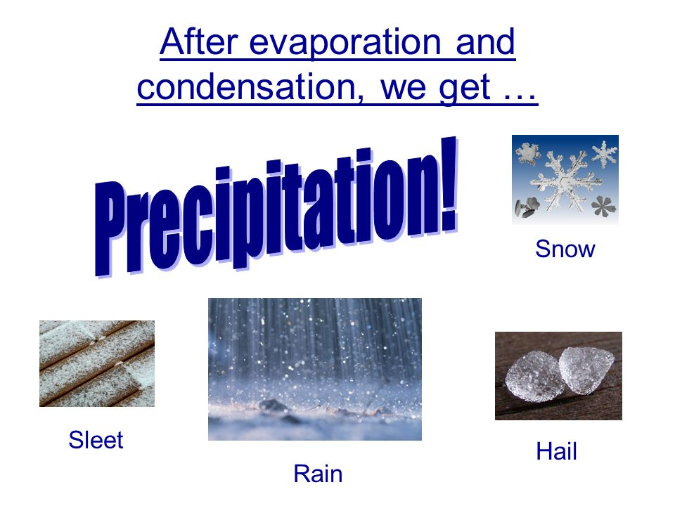 After evaporation and condensation, we get …