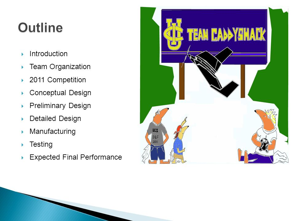 Outline Introduction Team Organization 2011 Competition
