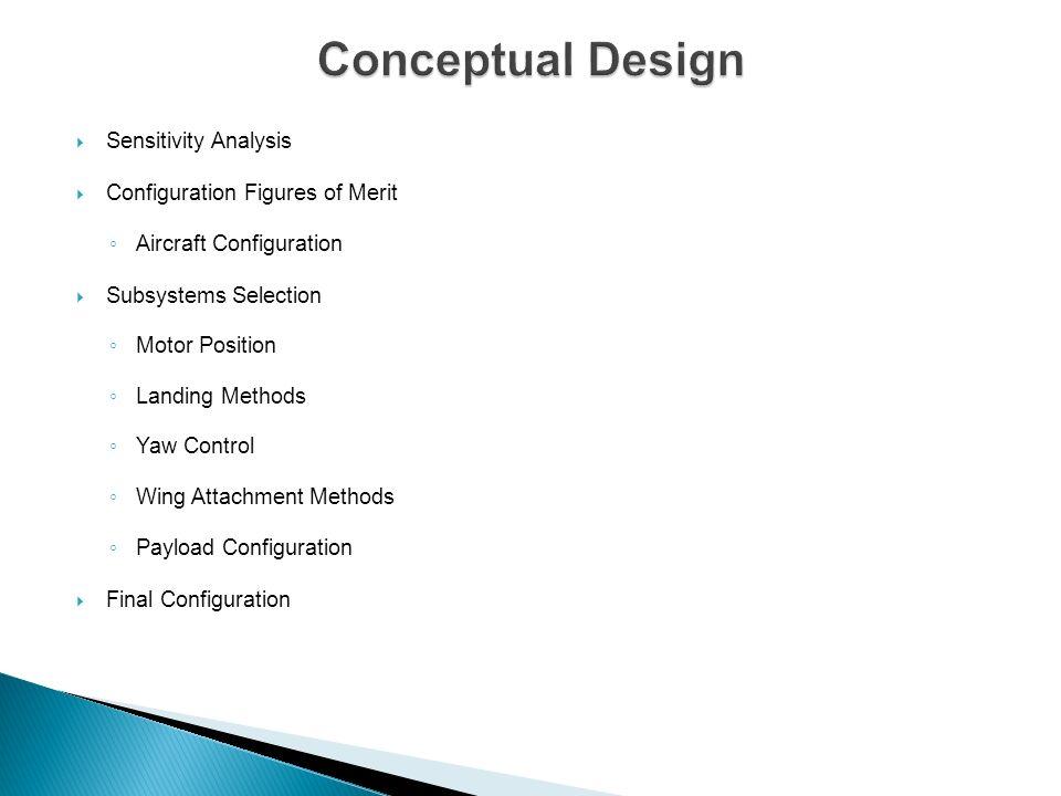 Conceptual Design Sensitivity Analysis Configuration Figures of Merit