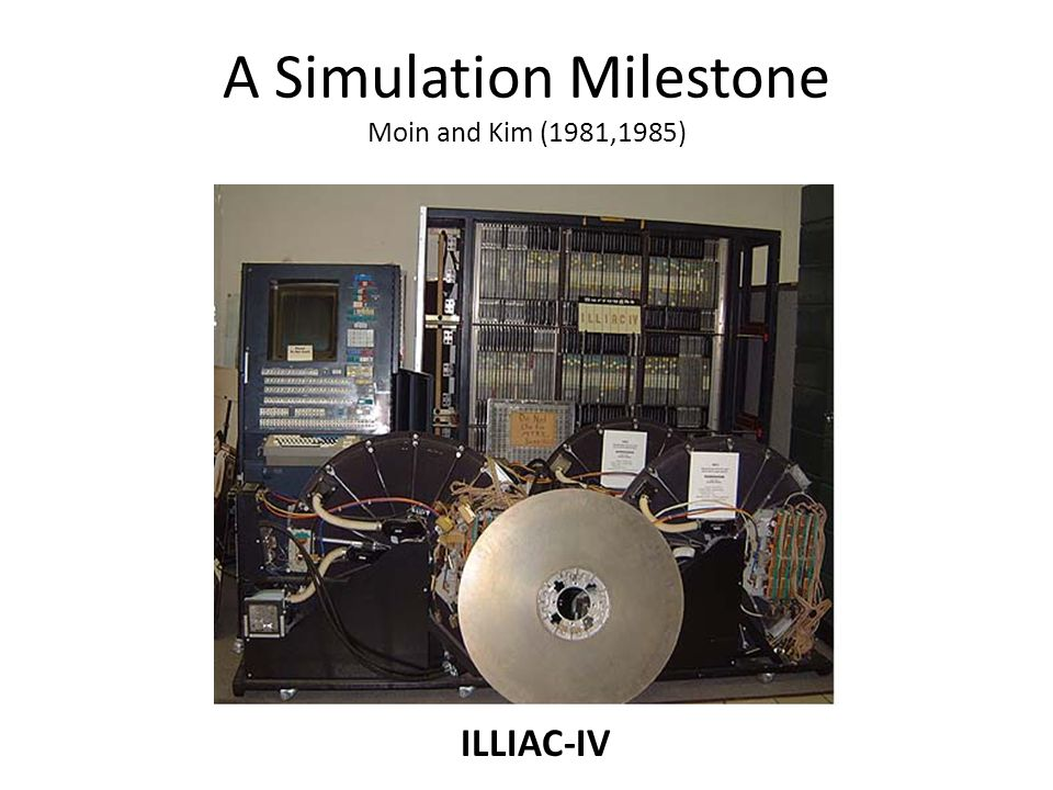 A Simulation Milestone Moin and Kim (1981,1985)