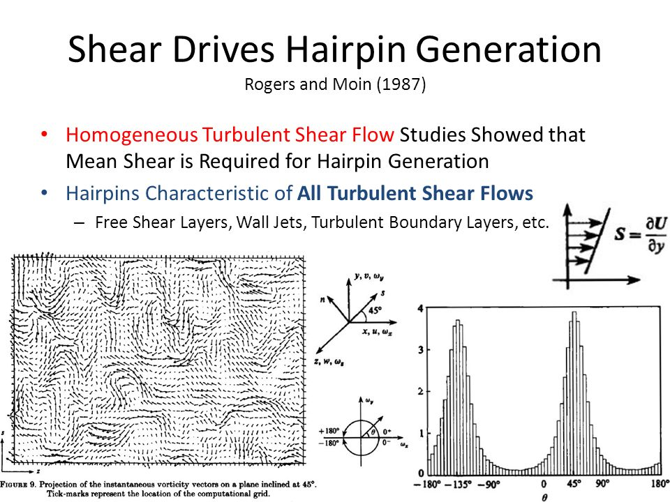 Shear Drives Hairpin Generation Rogers and Moin (1987)