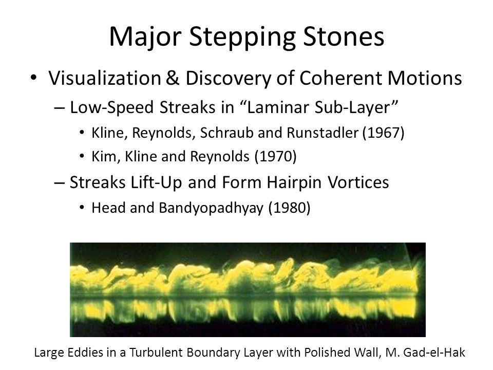 Major Stepping Stones Visualization & Discovery of Coherent Motions