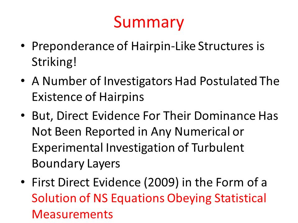 Summary Preponderance of Hairpin-Like Structures is Striking!