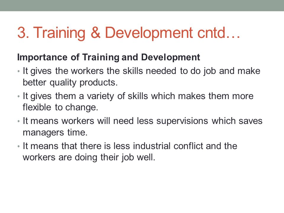 importance of on the job training pdf
