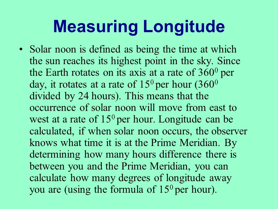 Measuring Longitude