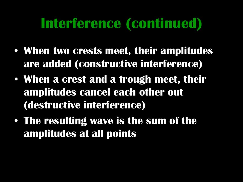 Interference (continued)