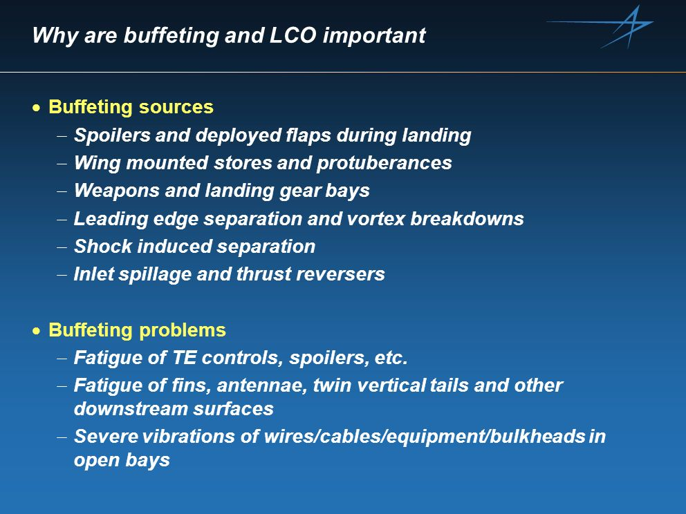 Why are buffeting and LCO important