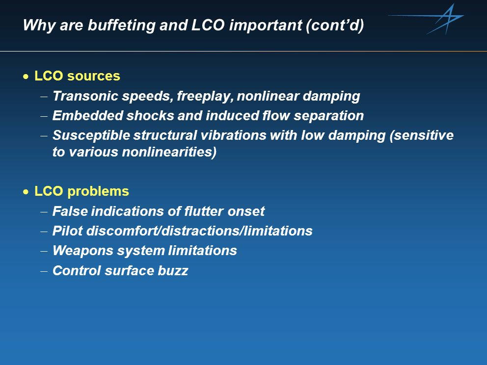 Why are buffeting and LCO important (cont'd)