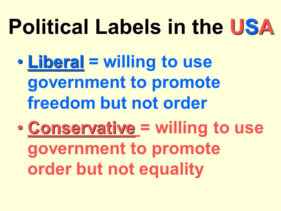 Political Labels in the USA