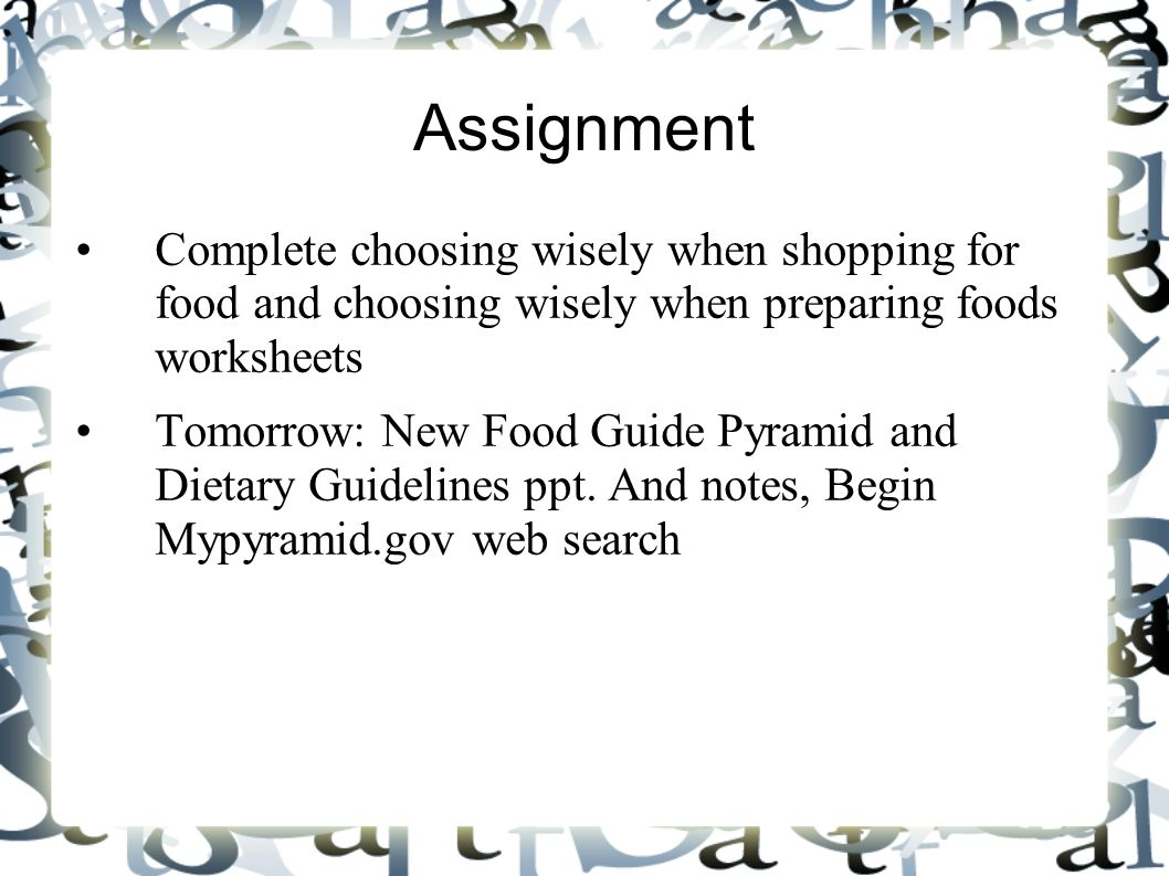 Presentation Assignment Example