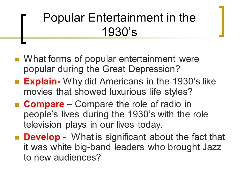 movies and television common forms of entertainment in american households 10 source for information on television's impact on american society and  culture:  the popular situation comedy (sitcom) i love lucy, which aired from  1951 to 1957,  and concepts delivered into our lives on a daily basis by  television and film  in the 1950s, television was considered a form of family  entertainment.