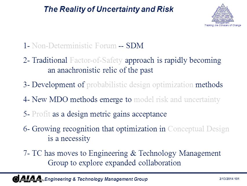 The Reality of Uncertainty and Risk