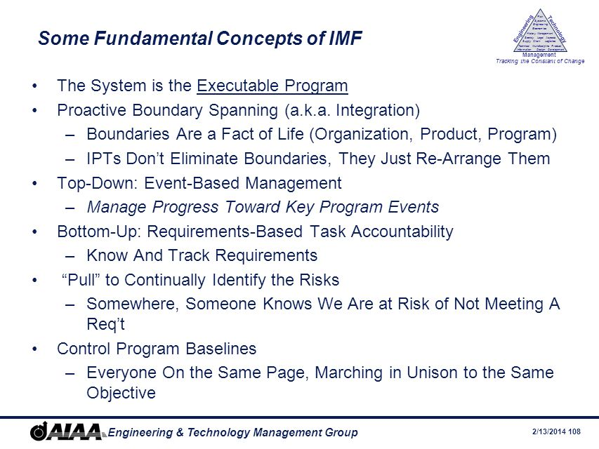Some Fundamental Concepts of IMF
