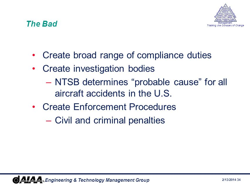 Create broad range of compliance duties Create investigation bodies