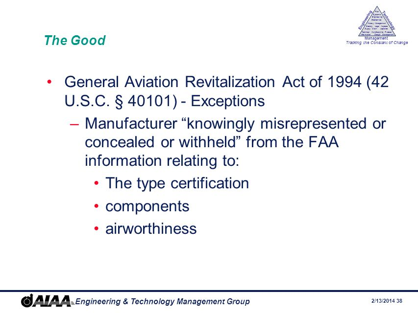 The type certification components airworthiness