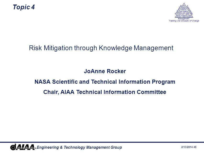 Risk Mitigation through Knowledge Management