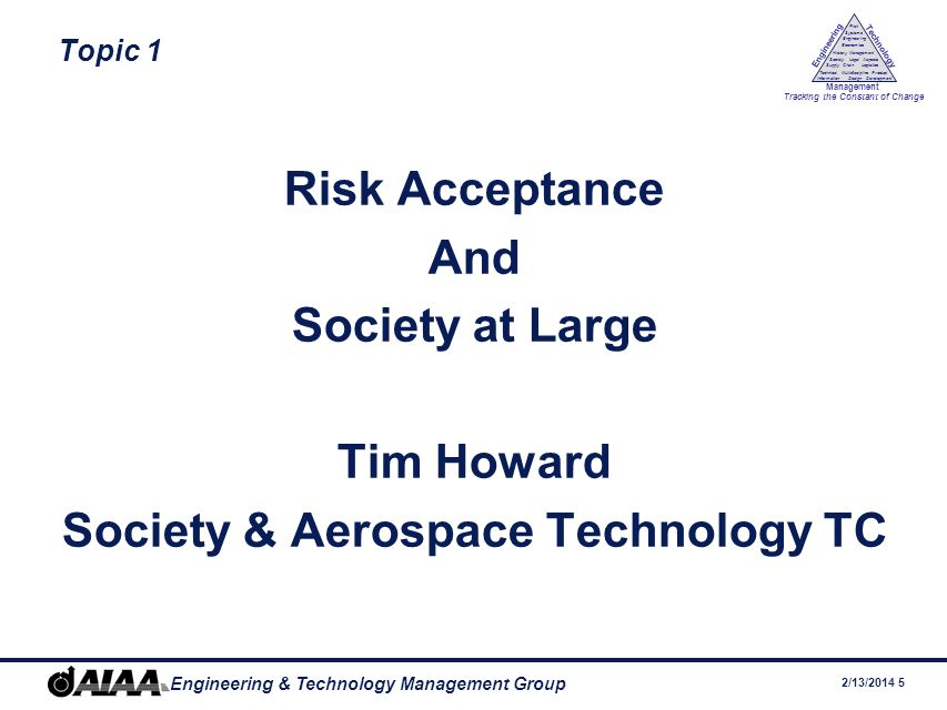 Society & Aerospace Technology TC