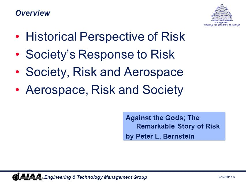 Historical Perspective of Risk Society's Response to Risk
