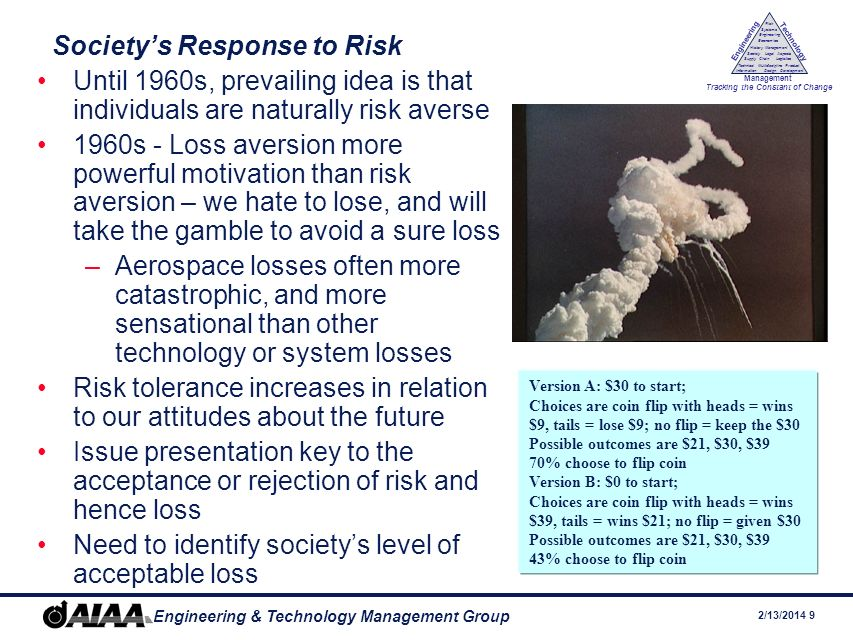 Society's Response to Risk