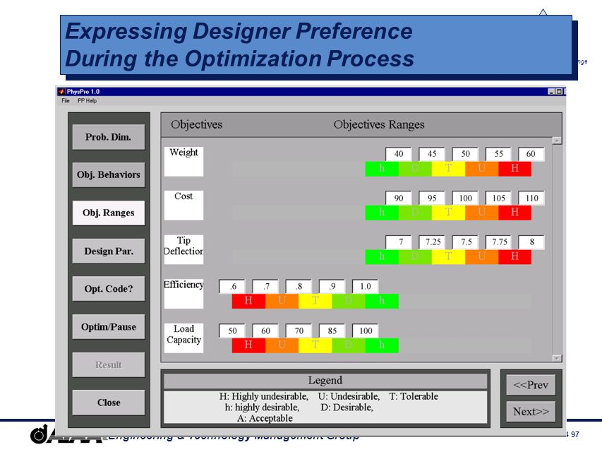 Expressing Designer Preference During the Optimization Process