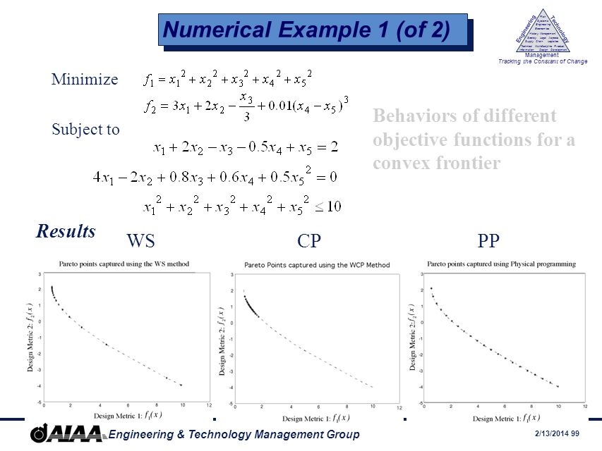 Numerical Example 1 (of 2)