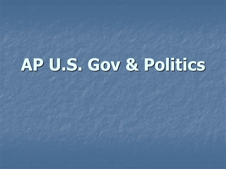 AP U.S. Gov & Politics