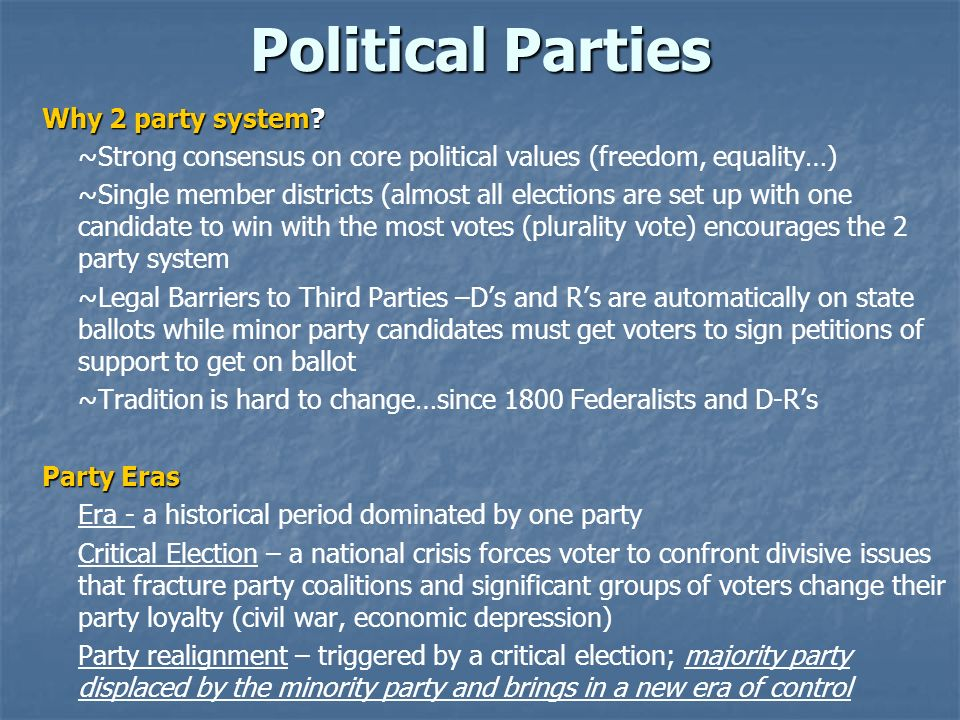 Political Parties Why 2 party system