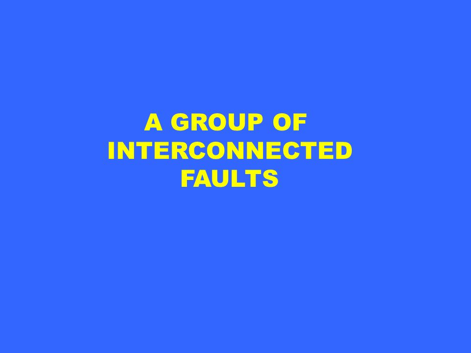 A GROUP OF INTERCONNECTED FAULTS