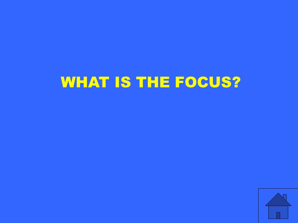 WHAT IS THE FOCUS