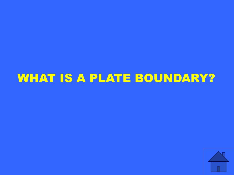 WHAT IS A PLATE BOUNDARY