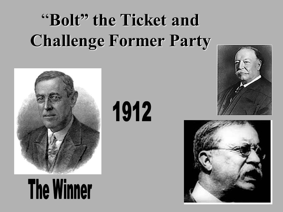 Bolt the Ticket and Challenge Former Party